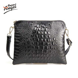 Wholesale Womens Cross Body Messenger Bags - Wholesale-Angel Voices!2016 Summer Style PU Leather Crocodile Messenger Tote Cross Body Bag Womens Handbag Satchel Shoulder Bag JY004