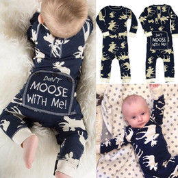 Wholesale Kids Clothing Pajamas - Newborn Baby Clothes Toddler Unisex Romper Overall Infant Jumpsuit Legging Warmer Bodysuit Long Sleeves Pajamas Christmas Next Kids Clothing