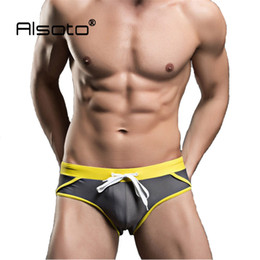 Wholesale Man Swimsuits - New Man Swimsuits Breathable Swimwear Boxer Shorts Men Swimming Trunks Maillot De Bain Sexy Briefs Low Waist Underpants