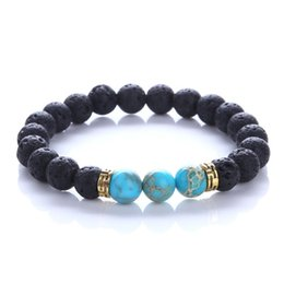 Wholesale Wholesale Buddha Products - 2017 New Products Wholesale Lava Stone Beads Natural Stone Bracelet, Men Jewelry, Stretch Yoga Bracelet for Women Gifts buddha to buddha