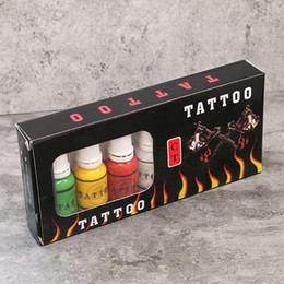 Wholesale Tattoo Guns For Shading - Hot Sale Tattoo Ink 7 Colors for Tattoo Machine Gun Kit Pigment Professional 15ml Tattoo Ink for Lining and Shading INK405