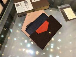 Wholesale Leather Short Sets - Fashion Short Designer Clutch Women Purse Porte-carte zippe 3 set Wallet CX#126 Leather Bifold Credit Card Holders Wallet With Box M62155