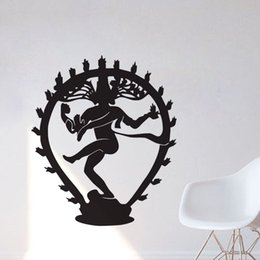 Wholesale God Wall Decal - The Hindu God Of Destruction Shiva Wall Stickers Home Decor Indian Religion Hinduism Wall Decals Vinyl