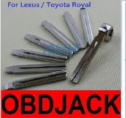Wholesale Toyota Folding Car Key Blanks - Folding key blanks For Lexus   Toyota Royal Car key embryo replacing the key head NO.13