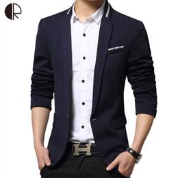 Wholesale Suite Jackets - Wholesale- Male Suite 2016 Brand Blazer Men Single Breaster Casual Suit Jacket Men Slim Fit Suits Plus Size Patchwork Coat MB052