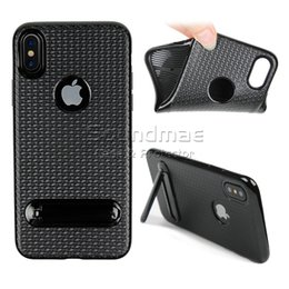 Wholesale Wholesale 3d Cell Phone Cases - 3D Stereoscopic rhombus Kickstand Case Back Cover For Iphone X 8 7 6 6s Plus TPU Cell Phone Protector With OPPBAG