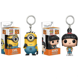 Wholesale Despicable Toys Action - 170618 Qiuchany Funko Agnes and Carl Despicable Me 3 Minions Agnes POP Pocket Keychains Action Figure Movie Accessories Key Chians