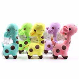 Wholesale Wholesale Giraffe Teddy - 2016 New Cute Plush Giraffe Soft Toys Animal Dear Doll Baby Kids Children Birthday Gift 22626