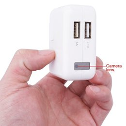 Wholesale Spy Chargers - 1920*1080P USB Wall Charger Spy Camera No Hole EU US UK Plug Camcorder with Motion Detection Hidden Camera AC Adapter Camcorders Mini DVR
