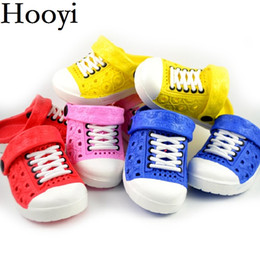 Wholesale Wholesale Heel Sneakers - Hooyi Baby Boy Shoes Children Sandals Hollow Girls Moccasins Fashion Slippers Kids Clogs Hot Sale Toddler Sneakers 13-18CM