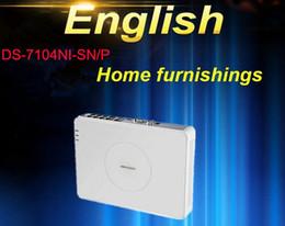 Wholesale Onvif Camera Recorder - English Version DS-7104NI-SN P 4CH IP Network Camera CCTV NVR Support EZVIZ Upgrade ONVIF,PoE Surveillance Video Recorder