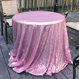 Wholesale Round Wedding Tablecloths - 60cm(23.5inch) diameter round sequins tablecloths wedding round table cloths party arrangement wedding props