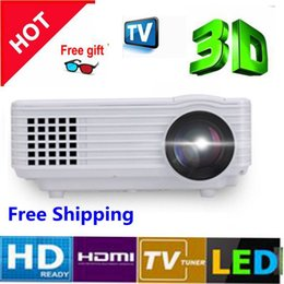 Wholesale Home Theater Multimedia Projector - Wholesale-2015 1800lumens Original RD-805 Mini Pico portable 3D Glasses Projector HDMI Home Theater beamer multimedia proyector HD video