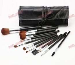Wholesale Cheaper Tools - 12pcs HOT Makeup Brush Cosmetic Foundation BB Cream Powder Blush Makeup Tools Black PU bag cheaper price