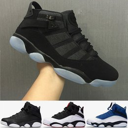 Wholesale Best Gold Rings - Free Shipping Wholesale Cheap online hot Sale New Best basketball shoes Air Retro 6 VI RINGS Carmine Sneaker Sport Shoe VI US 7-11
