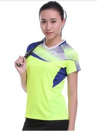 Wholesale Butterfly Table Tennis T Shirts - 2017 New Sportswear Quick Dry Breathable Badminton Shirt, Women's   Men's Table Tennis Clothing Fitness Team Game Short Sleeve T Shirts