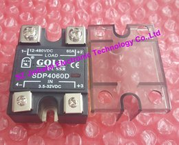 Wholesale Dc Ssr - SDP4060D New and original GOLD DC-DC Solid state relay DC SSR 3.5-32VDC, 12-480VDC 60A