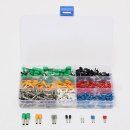 Argentina 600Pcs Terminal de extremo aislado del cable Bootlace Cooper Ferrules Kit Set Wire Copper Crimp Connector Suministro