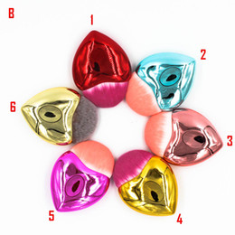 Wholesale Packing Services - A+B heart-shaped single foundation brush 12 color 2017 box pack new design blush makeup brushes 100 OEM service