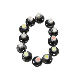 Wholesale Led Cluster Bulbs - Car Interior Lights T3 Wedge LED Light Instrument Panel Gauge Cluster AC Climate Controls Radio Switch Lamps Bulbs