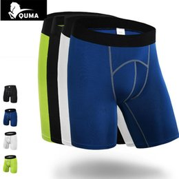 Wholesale Men S Boxers Designs - HOT Summer Design Skinny Wear Men Bodybuilding Base Yayer Tight Compression Stretch Pro Crossfit Sweat Shapers Boxer Shorts