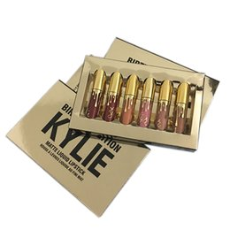 Wholesale Mini Lipsticks - Kylie Cosmetics Birthday Collection Limited Edition lipstick Kylie Jenner Cosmetics Mini Matte Lipstick Kit Birthday Edition Lipgloss