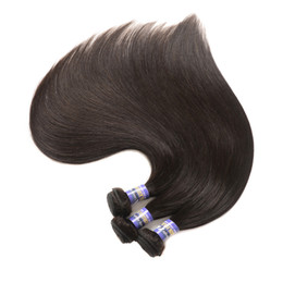Wholesale Angle Machine - lovely Angle hair Indian Straight Weave 100g Piece Human Hair Bundles Natural Color Remy Hair 10-28 Inch