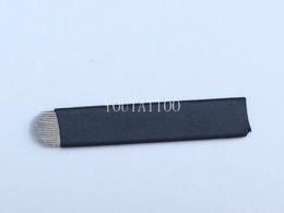 Augenbrauenschneider online-50 STÜCKE Weiß U Form 18 Nadel Microblading Klinge Für Permanent Augenbrauen Make-Up Manuelle Tattoo Stickerei Stift