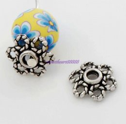 Wholesale Gold Filigree Bead Caps - 500pcs    9.8x10.8mm Antique Silver Filigree Daisy Flower Bead Cap L1052 Jewelry Findings Components wholesale cap washer