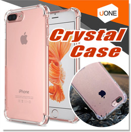 Wholesale Iphone Flexible Case - For iPhone X 8 7 Plus Ultra Hybrid Case Crystal Clear Flexible TPU Case Hybrid Protective Shock Absorbing Bumper Cover with Clear Back Panel