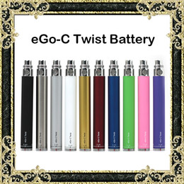 Wholesale Ego C Twist Variable - eGo-C Twist Battery 650mAh 900mAh 1100mAh 1300mAh Batteries Electronic Cigarette Battery Variable Voltage Fit Dry Herb Wax Atomizers