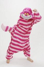 Wholesale Cheshire Cat Costumes - Winter New Sleepsuit Adults Cartoon Cheshire Cat Onesies Unisex Onesies Pajamas Cosplay Costumes