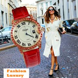 Wholesale Cheap Large Watches - Luxury fashion large circular quartz watch imitation diamond pointer alloy woman watches cheap holiday lady gifts Chinese brand watches mixe