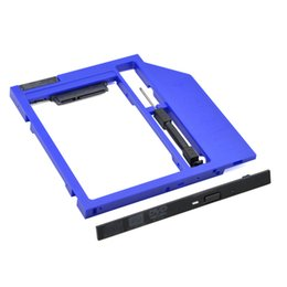 """Wholesale Dvd Case Enclosure Sata - Wholesale- New Arrival Blue 2nd HDD Caddy 9.5mm SATA 3.0 HDD Case Enclosure for Laptop CD DVD-ROM Optical Bay for 2.5"""" 7mm   9mm SSD"""