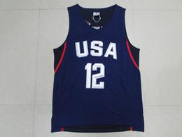 2016 США Dream Team рубашки Белый синий баскетбол футболки Высокое качество Мужские баскетбольные рубашки Спортивная одежда на открытом воздухе Горячая продажа от