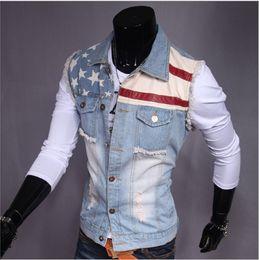 Wholesale Denim Spots - Hot style 2017 han edition men's clothing foreign trade spring and autumn spot men vest washed denim cotton vest b403