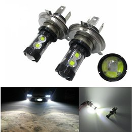 Wholesale Drl 12 Led High Power - Super bright H4 led 60W 12 SMD WITH Cree Chips Led 60W 382 High Power hi lo fog LED headlamp Light With Resistor Canbus drl