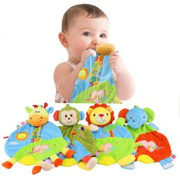 Wholesale Comfort Blankets - Wholesale- Baby Soft Appease Towel Animal Early Educational Plush Baby Toys Teether For Newborn Baby Comforting Blanket - DBYC127 PT05