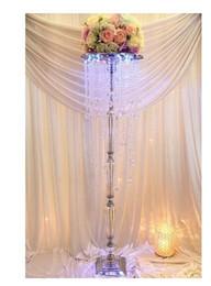 Wholesale Wholesale Crystal Tall Candle Holders - 12pcs 120cm tall acrylic crystal wedding centerpiece wedding pillars for wedding decoration acrylic crystal candle holder