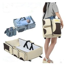 Wholesale Mothers Pregnant - Baby Diaper Bag Pregnant Mother Bags Multifunctional Kid Stroller Bags Nappy Baby Bags For Mom 7 Styles DHL Free Shipping