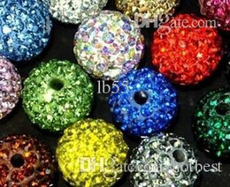 Wholesale Mixed 12mm Pave Beads - Best! free shipping 12mm mixed Micro Pave CZ Disco Ball Crystal Shamballa Bead Bracelet Necklace Beads.MJPW Wholesale! Stock!y252521