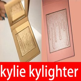Wholesale Cotton Candy Makeup - Kylie Cosmetics Kylighter French Vanilla Cotton Candy & Salted Carmel Highlighter Glow Face Makeup 6 color Bronzers & Highlighters