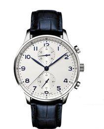 Wholesale japanese quartz chronograph movements - 2018Luxury Watches Factory Supplier Sapphire Portuguese 46 Japanese Quartz Movement Chronograph White Dial Mens Men's Watch Watches