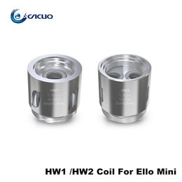 Wholesale Heads Cylinder - Eleaf HW1 Single Cylinder 0.2ohm HW2 Dual Cylinder Head 0.3ohm Replacement Coils For Ello Mini Atomizer Pure Cotton Pico 25 HW Coil Head