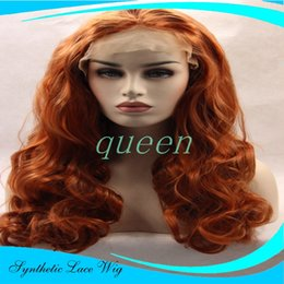 Wholesale Cheap Long Synthetic Hair Wigs - 12-26inch in stock brown Cheap long wavy wigs synthetic lace front wig for black women glueless synthetic lace front wig heat resistant hair
