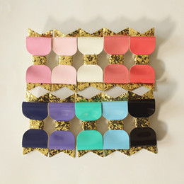 Wholesale Felt Clips - 10color Glitter Felt Hair Clip for Baby Girls PU Leather 20pcs lot Hotsale Princess Barrettes Baby Silver Hairpin Free Shipping