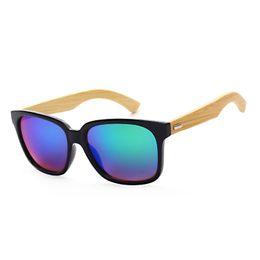 Wholesale Male Sunglass - Vintage bamboo Unisex HD lens Fashion sunglasses For Men Women brand designer Summer Classic style wood sunglass Male female for Travel