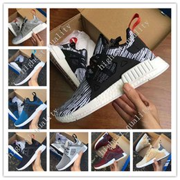 Wholesale Solid Keychain - Top Factory NMD XR1 2017 New BATHING BA7326 Real Boost Green CAMO NMD_XR1 Camo NMD Mens Running Shoes for men Receipt Keychain size 36-45