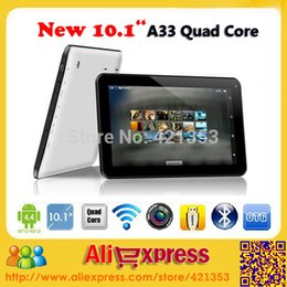 Wholesale Cheap Dual Camera Tablets - Wholesale- 2015 New Hot Sale Cheap 10 inch Tablet PC Allwinner A33 Quad Core Android 4.4 Dual Camera 1GB 8GB 16GB WiFi Bluetooth +Gift
