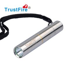 Wholesale Trustfire Cree Flashlight - Mini LED Flashlight Stainless Steel CREE XPE Q3 Pocket Handy Torch 10440 Rechargeable Flash Light Portable Camping Light Super Bright Torch
